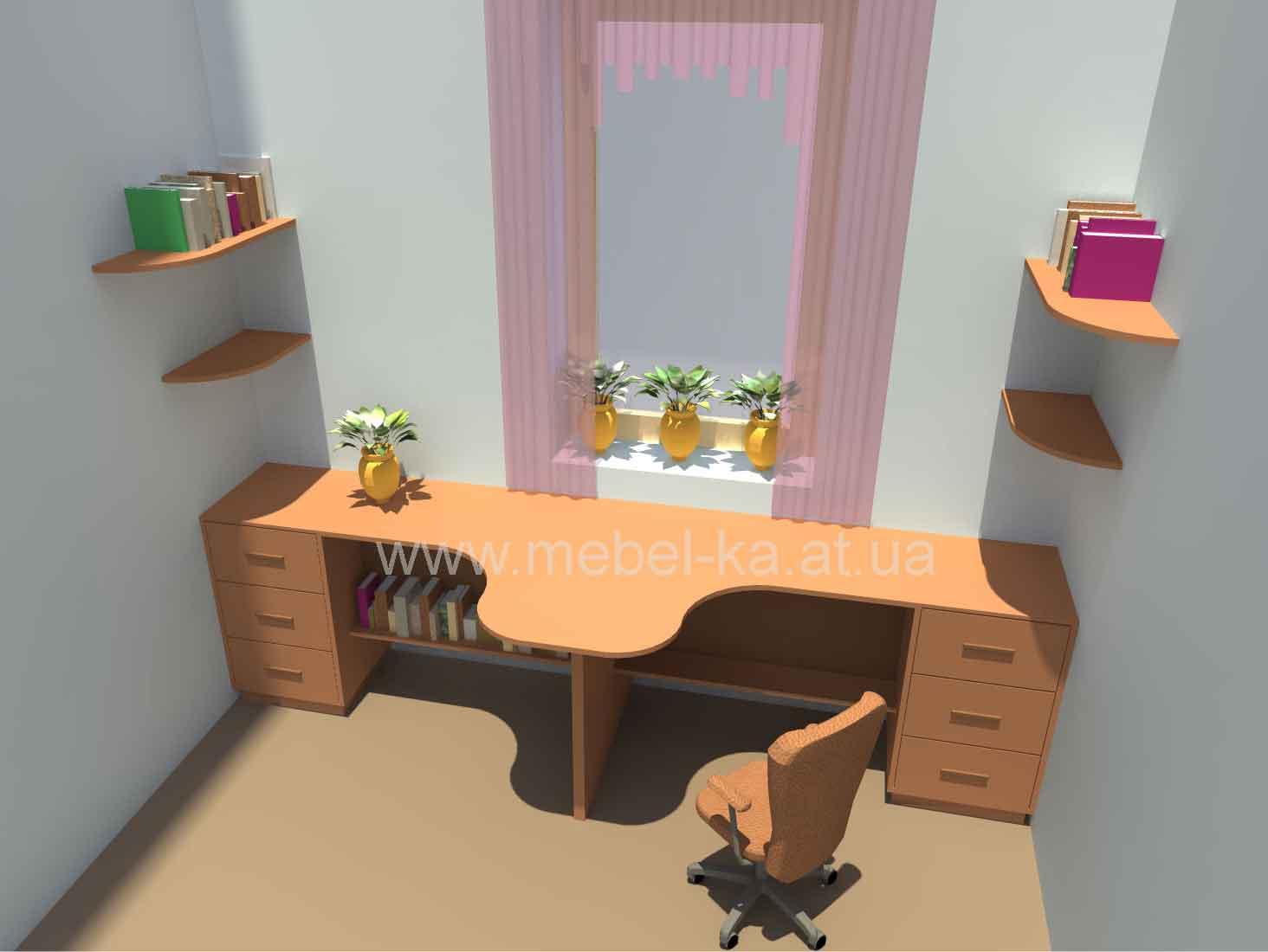 Письменный стол для двух детей своими руками 67
